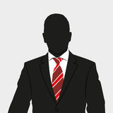 Business man. Vector. Silhouette of business person in suit. Background vector illustration picture Stock Photos