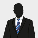 Business man. Vector. Silhouette of business person in suit. Background vector illustration picture Stock Image
