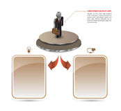 Business man vector template Royalty Free Stock Images