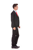 Business man waiting in line Stock Image