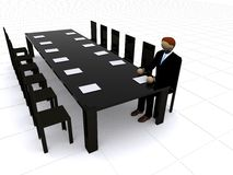 Business man waiting for meeting - 3d illustration Stock Image