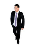 Business man walk looking side Stock Photography