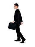 Business man walk side Stock Photo