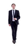 Business man is walking Stock Images