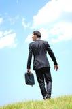 Business man walking Royalty Free Stock Photo