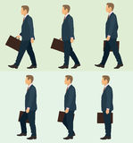 Business Man Walking Stock Photo