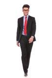 Business man walking forward Royalty Free Stock Photography