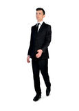 Business man walking forward. Isolated business man walking forward Royalty Free Stock Images