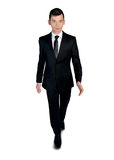 Business man walking forward. Isolated business man walking forward Stock Image