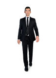 Business man walking forward. Isolated business man walking forward Stock Images