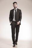 Business man walking forward Royalty Free Stock Image