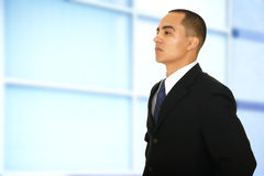 Business Man Walking By Office Stock Image