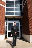 Business Man Walking Outside royalty free stock photos