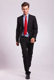Business man walking towards you Royalty Free Stock Images