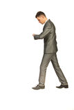 Business man walking at work Stock Image