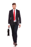 Business man walks with briefcase Stock Photography