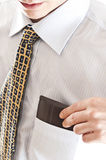Business man wallet. Business man grab wallet from pocket Stock Images