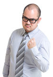 Business man want to fight Royalty Free Stock Image