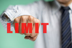 A business man want to overcome the limit. To upgrade Stock Images
