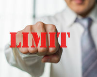 Business man want to overcome the limit. A business man want to overcome the limit to upgrade Stock Photography