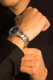 Business man - watch Stock Photos