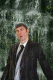 Business man waterfall Stock Photo