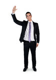 Business man wave hand. Welcome Stock Photos
