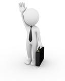 Business man waving Stock Image