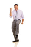 Business man waving fists Stock Images
