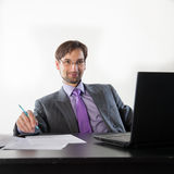 Business man wearing glasses Royalty Free Stock Photo