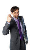 Business man wearing glasses Stock Image