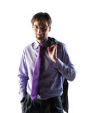 Business man wearing glasses Stock Images