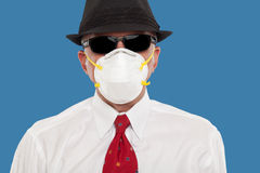 Business man wearing a protective mask Royalty Free Stock Photos