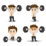 Business man weight lifting Stock Images