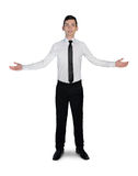 Business man welcome gesture Royalty Free Stock Photo