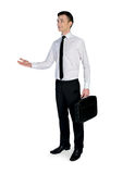 Business man welcome Stock Images
