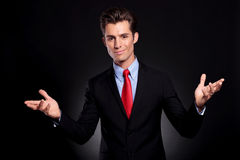 Business man welcoming Royalty Free Stock Photo