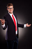 Business man welcoming you Royalty Free Stock Photography