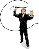 Business man with whip. Illustration of a businessman with a whip Royalty Free Stock Photo