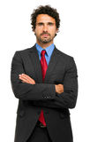 Business man on white background Royalty Free Stock Photos