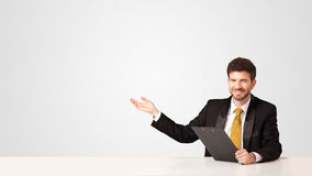 Business man with white background Stock Photo