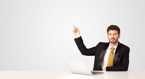 Business man with white background Royalty Free Stock Image