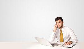 Business man with white background Royalty Free Stock Photo