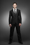 Business man in white shirt and black suit. Royalty Free Stock Photo