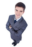 Business man, wide angle shot Stock Photography