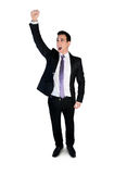 Business man winner arm up Royalty Free Stock Photography