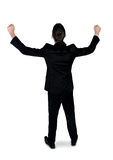 Business man winner back view Royalty Free Stock Image