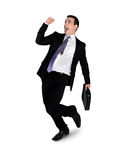 Business man winner dance Royalty Free Stock Image