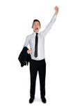 Business man winner hand up. Business man winner hand up Stock Image