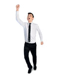 Business man winner hand up Stock Photography